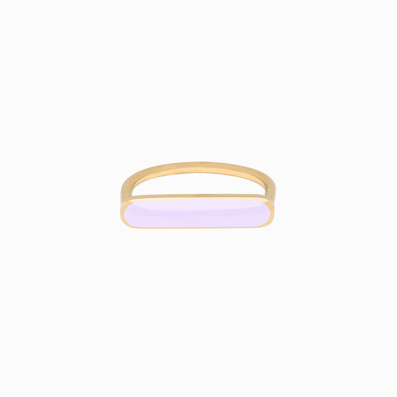 Stacker Ring, Lavender, Golden Brass