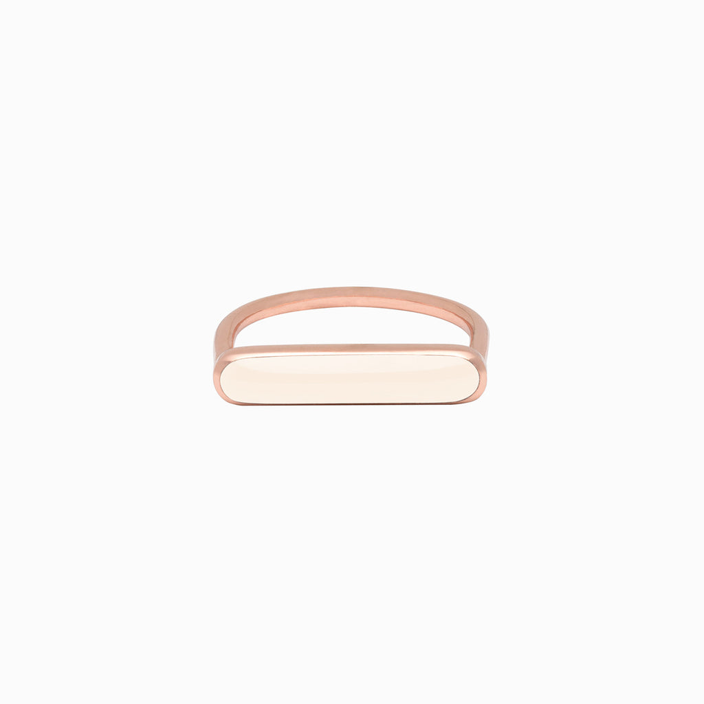 STACKER RING<br/>Blush<br/>Rose Gold Plate</br>