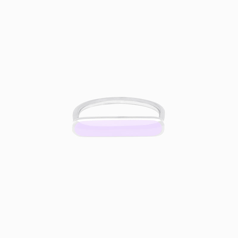 Stacker Ring, Lavender, Sterling Silver