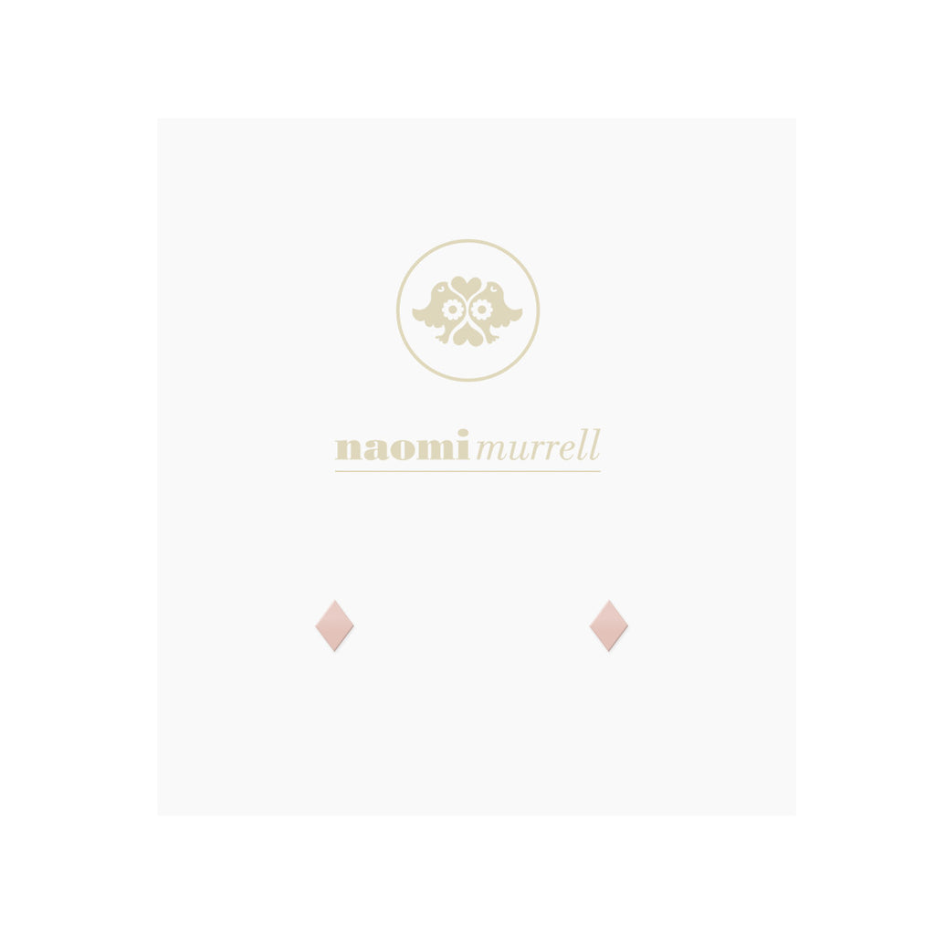 Petite Diamond Studs in Rose by Naomi Murrell