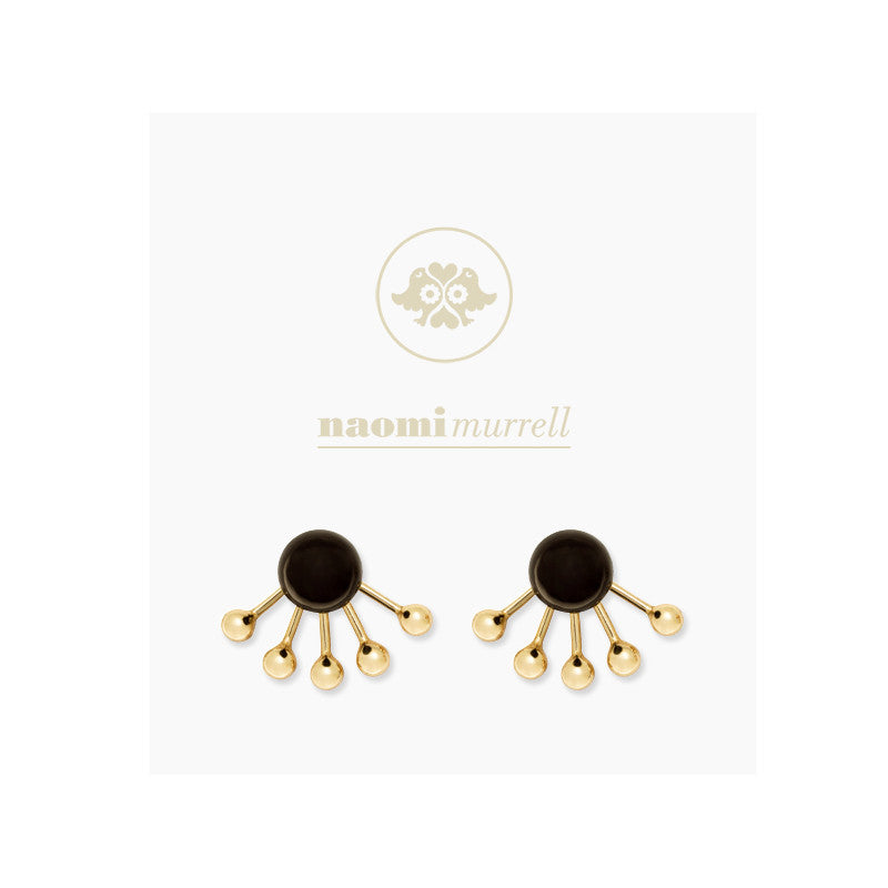 Pinball Ear Jackets in Golden Brass and Peppercorn by Naomi Murrell