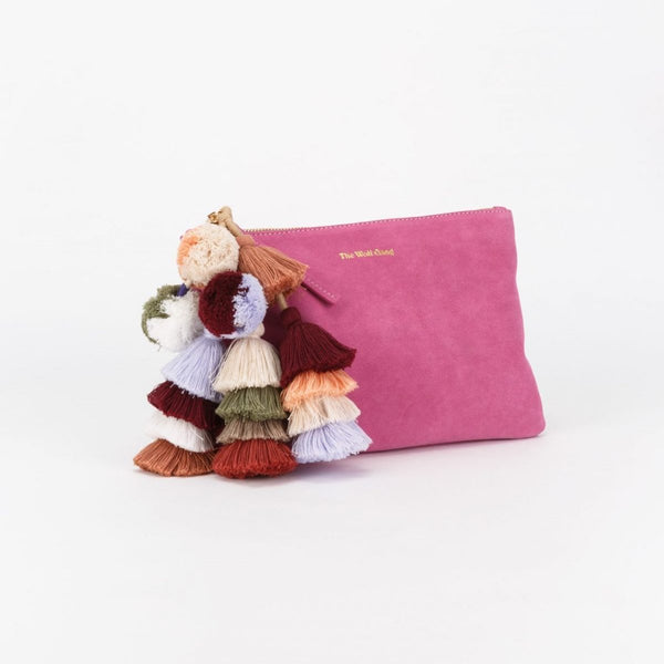 Bedouin Clutch in Flamingo Suede by The Wolf Gang
