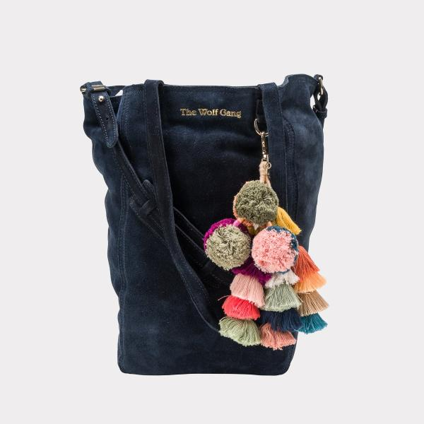 Berber Tote in Midnight Suede by The Wolf Gang