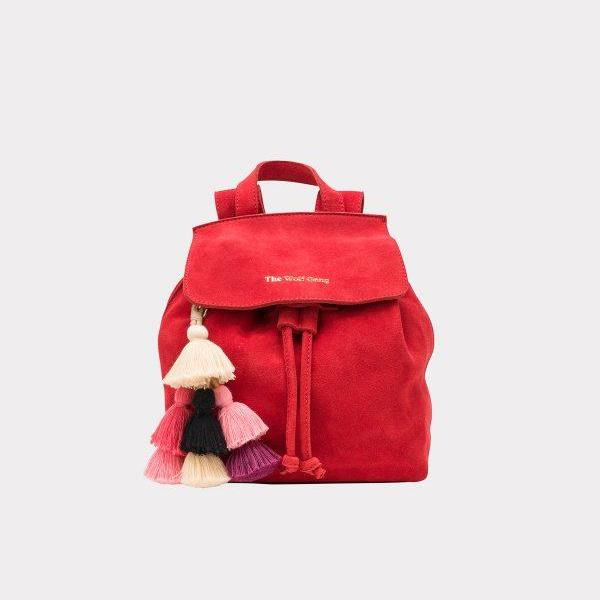 Mini Mochila Backpack in Dahlia Suede by The Wolf Gang