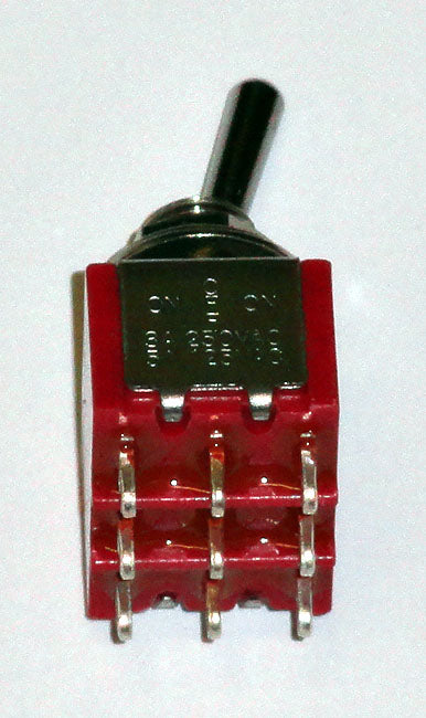 T8305 3PDT On-Off-On Center Off Premium Miniature Toggle Switch