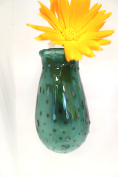 turquoise wall hanging vase