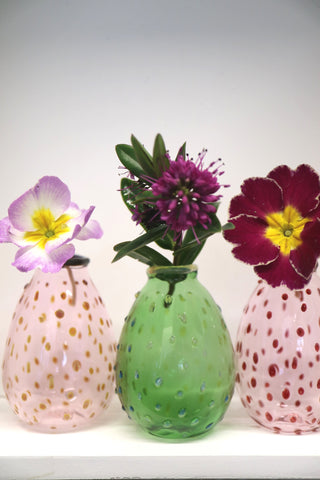 Coloured Polka Dot Vase