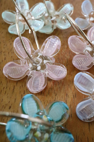 Flower Earrings - Pastel Colours