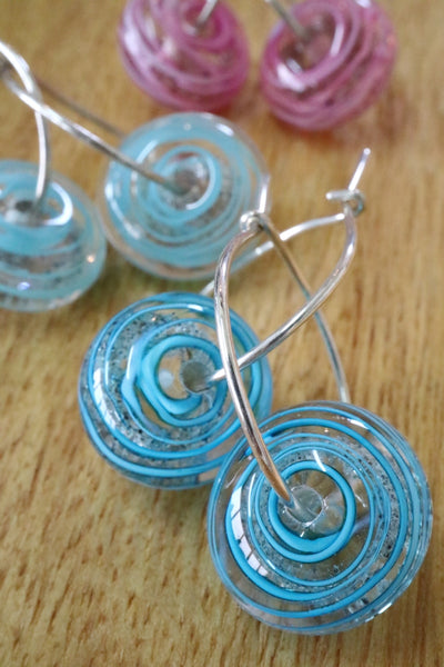 Sand Spiral Earrings