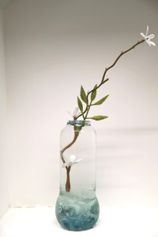 Tall Bud Vase - Decorated with Glass Powders