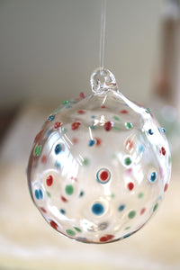 Multi Coloured Polka Dot Bauble