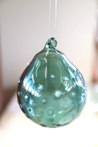 Teal Bauble - with Cloud Polka Dot