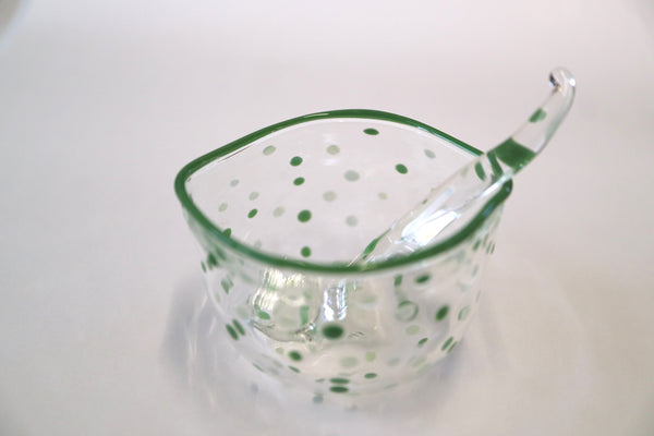 Polka Dots Sugar Bowl with a matching Spoon