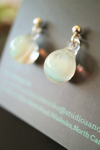 Tsubomi (Bud inspired) Studs - Cloud