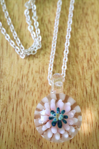 Flower Pendant-White Pink