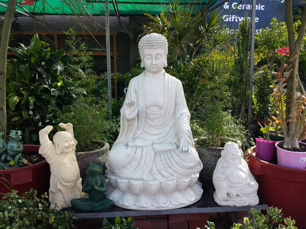 GRC White Blessing Buddha on Lotus