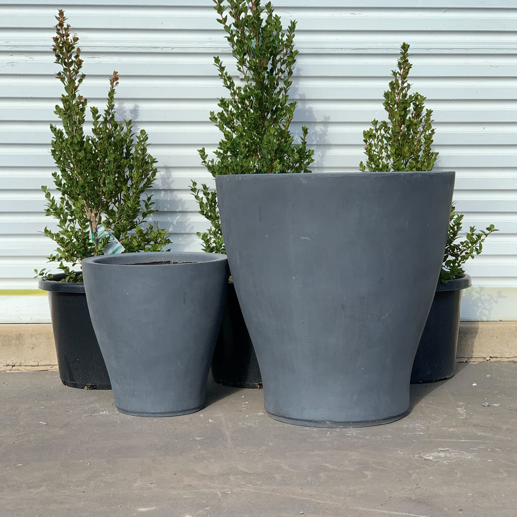 Fiber Stone Open Top Planter Charcoal