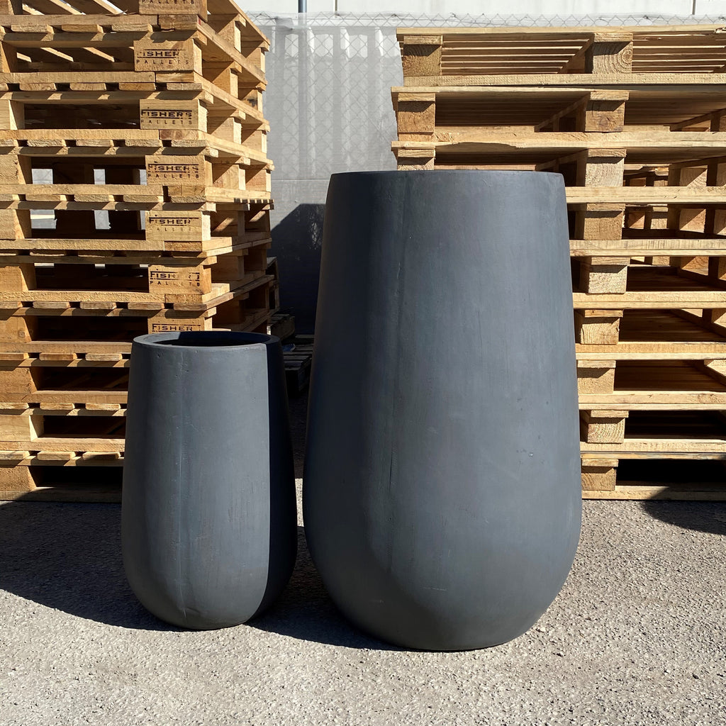 Tall Rocket Pot Charcoal
