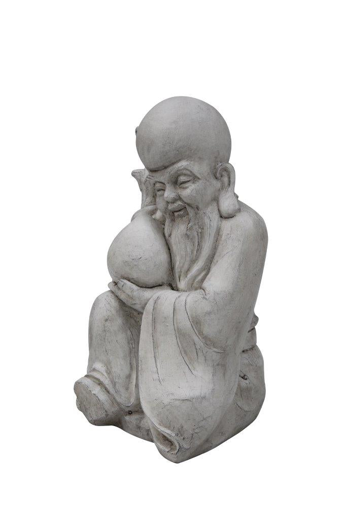 Fiber Stone God of Longevity Sitting