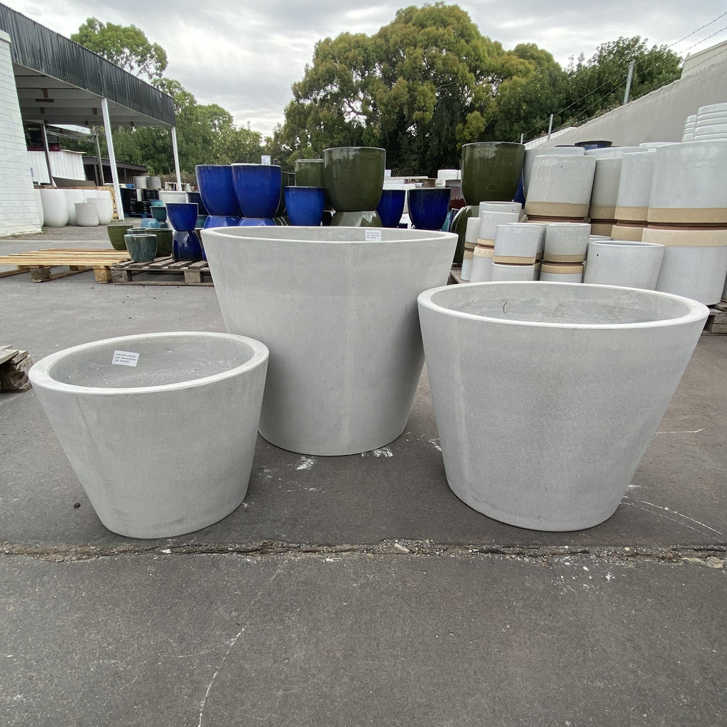 GRC Taper Cylinder Pot Natural Concrete