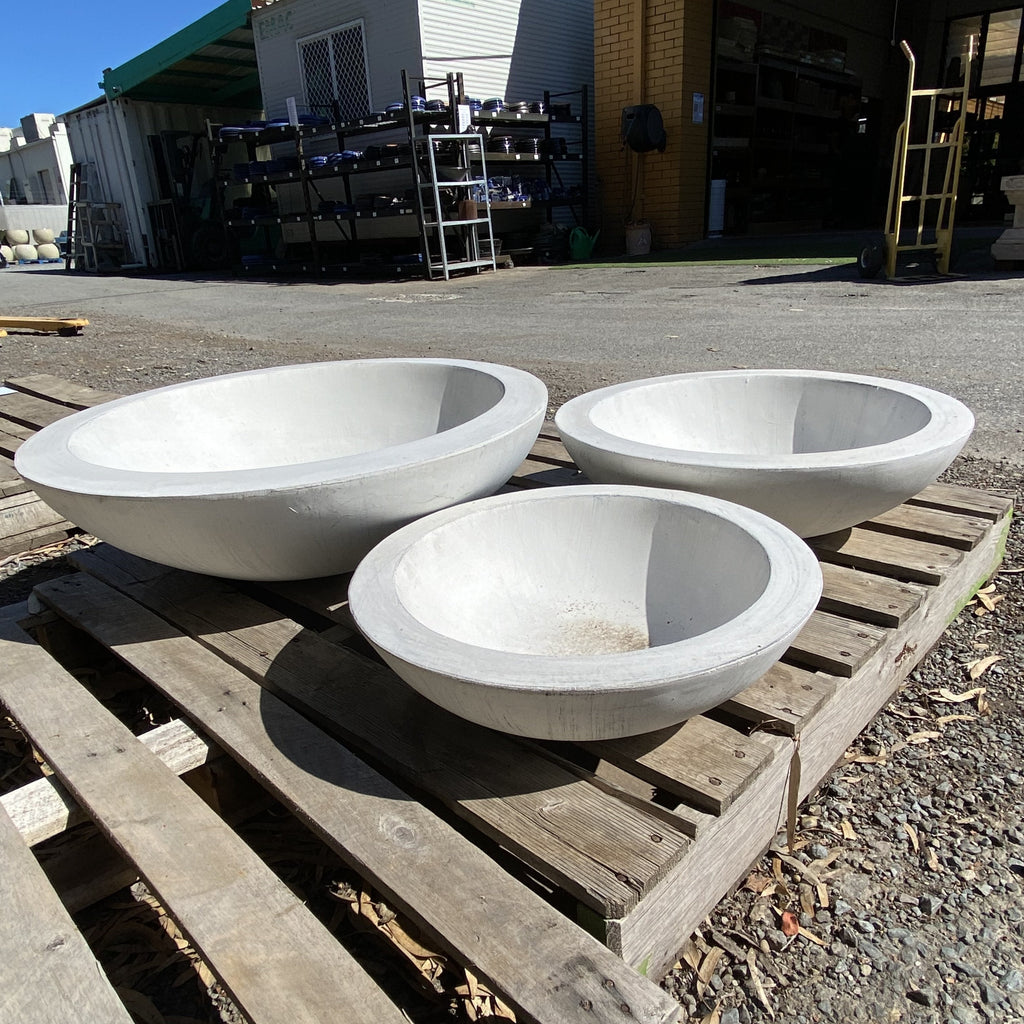 Fiber Stone Pacific Bowl White