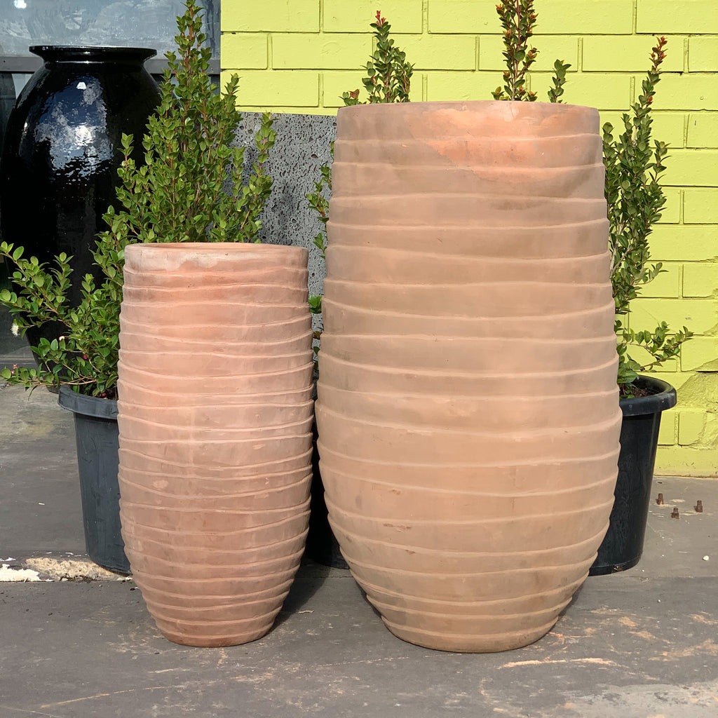 Tall Warah Pot Chocolate Terracotta