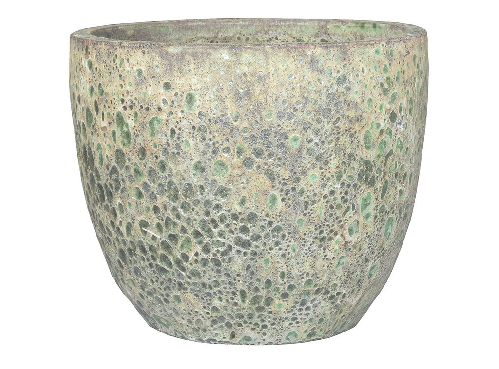 Oceanic Egg Pot Glaze Bubble Green