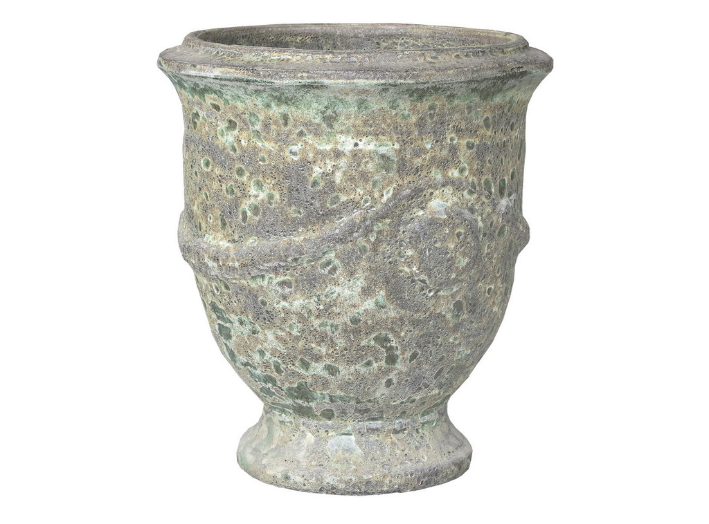 Oceanic French Planter Glaze Bubble Green