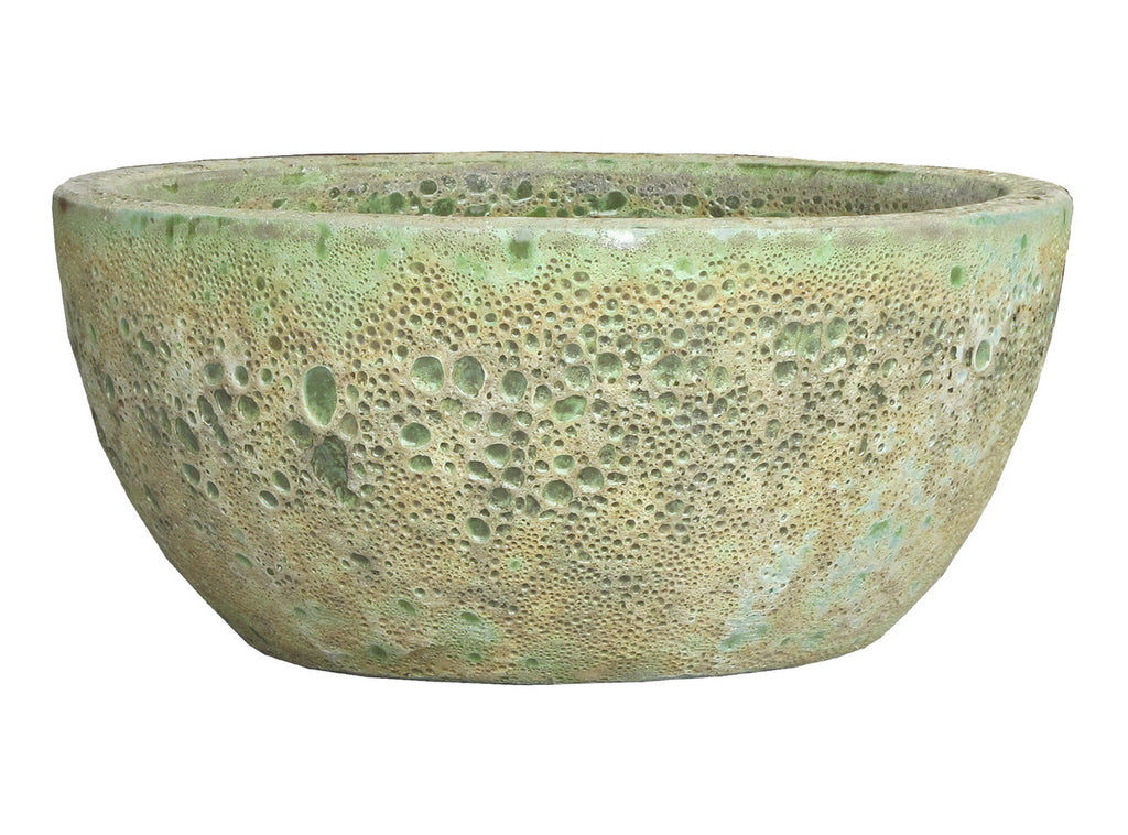 Oceanic Bowl Glaze Bubble Green