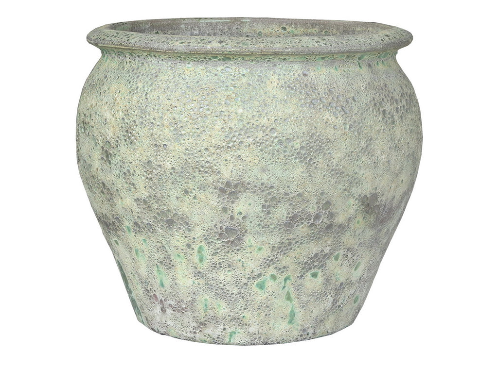 Oceanic Tree Planter Glaze Bubble Green