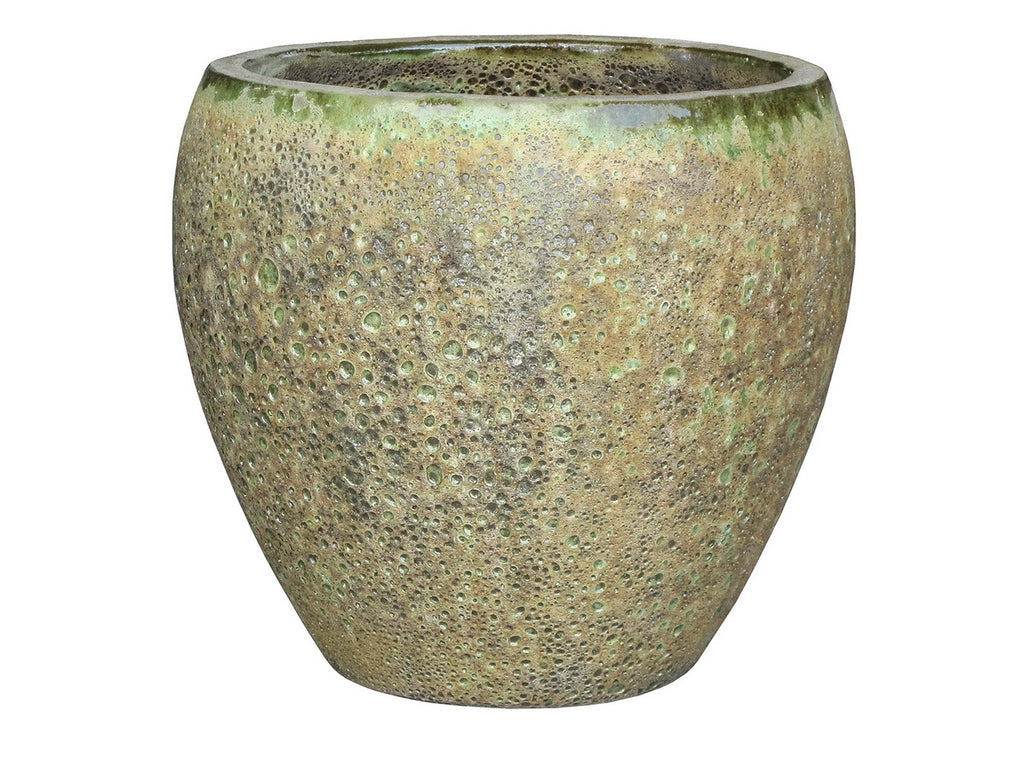 Oceanic Tulip Pot Glaze Bubble Green