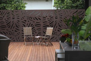 Decorative Garden Screen - Daintree 80% Block Out