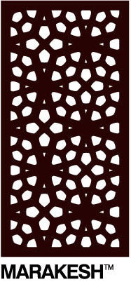 Decorative Garden Screen - Marakesh 80% Block Out