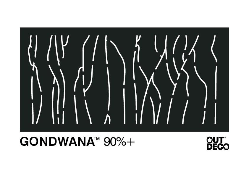 Decorative Garden Screen - Gondwana 90% Block Out
