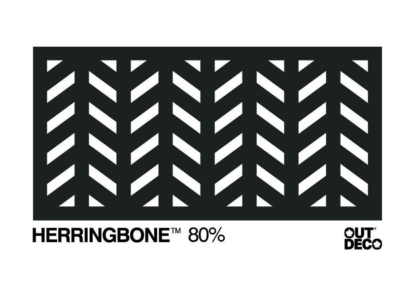 Decorative Garden Screen - Herringbone 80% Block Out