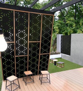 Decorative Garden Screen - Star Jasmine 80% Block Out
