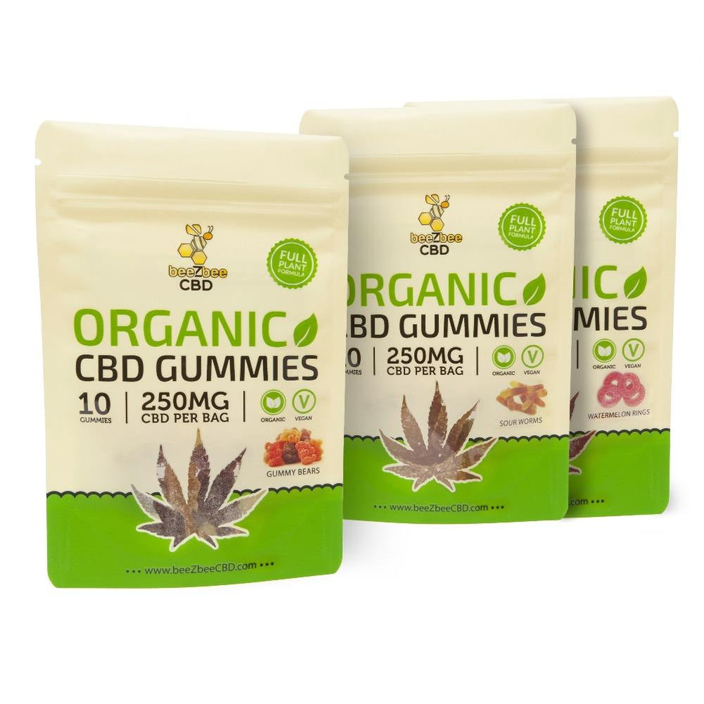 beeZbee CBD Full Spectrum Vegan Gummies 250mg - CBD Kratom