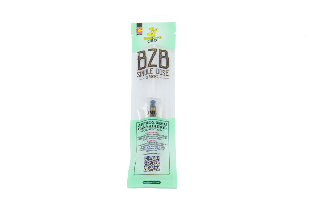 beeZbee CBD Single Dose Syringe 35mg - CBD Kratom