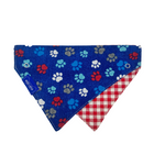 Picnic Dog Collar Scarf, Reversible and Two-Tone