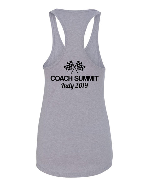 Team Perseverance Summit (US Version): Women's Fitted Racerback Tank - Grey (1533)