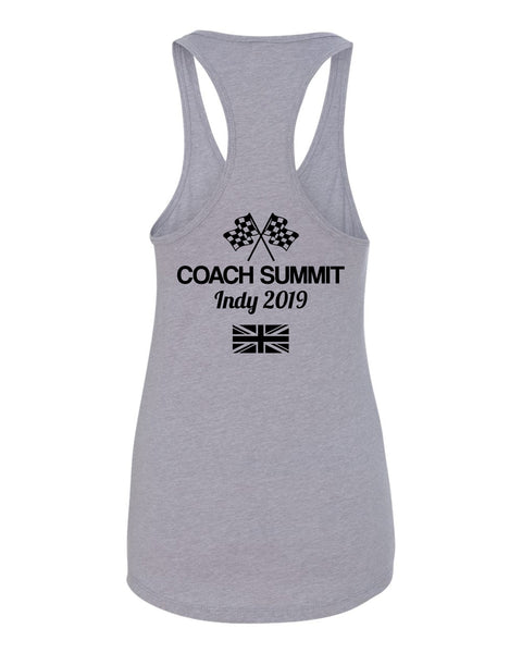 Team Perseverance Summit (UK Version): Women's Fitted Racerback Tank - Grey (1533)