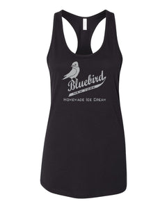 Blue Bird Homemade Ice Cream Premium Cotton Racerback Tank