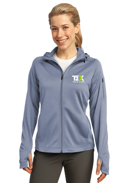 T2X Gym Women's Tech Fleece Full-Zip Hooded Jacket (L248)