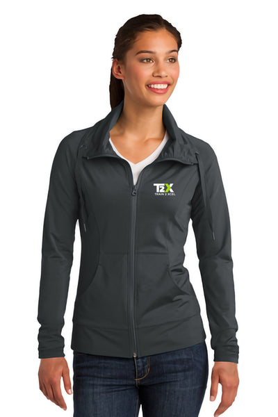 T2X Gym Women's Sport-Wick Stretch Full-Zip Jacket (LST852)