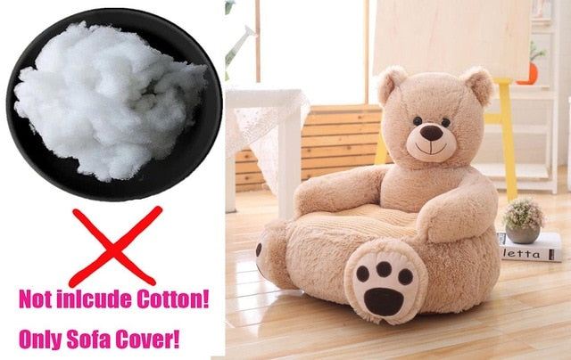 Sofa Cover Cartoon Kids Plush Seats Sofa Comfortable Animal Bear Panda Baby Portable Chair Sofa Gifts for Children Without Inner