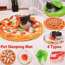 Charger l'image dans la galerie, Pet Cat Bed Funny Mat and Blanket Cute Cozy Cat Mat Sleeping Beds Warm Durable Pet Dog Cushion Dog Cat Supplies Eggs Pizza Mats