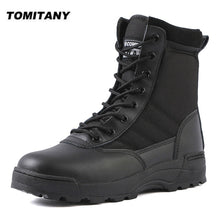 Charger l'image dans la galerie, Tactical Military Boots Men Boots Special Force Desert Combat Army Boots Outdoor Hiking Boots Ankle Shoes Men Work Safty Shoes