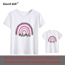 Charger l'image dans la galerie, 1pc Fashion  Mama and Mini Rainbow print Family Matching T-shirt Short Sleeve Family Look T-shirts Mother and Daughter Clothes