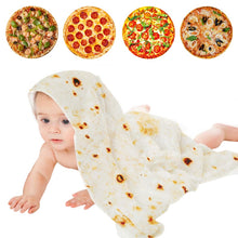 Charger l'image dans la galerie, Baby Soft Pizza Blankets Novel food Tortilla burritos blanket cocoon swaddle newborn bath for girl boy Pizza pie Quilt