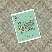 Load image into Gallery viewer, Diver Mermaid Valentine Print